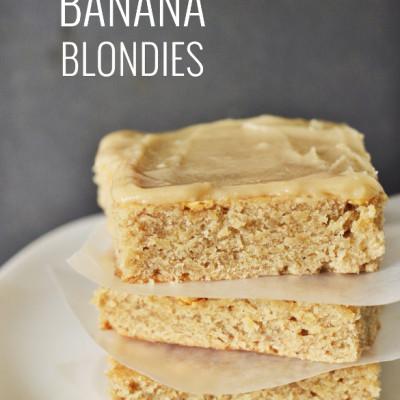 Banana Blondies