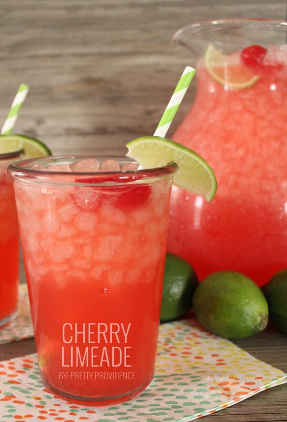 Literally the best fizzy cherry limeade I have ever had! So easy to whip together and sure to please any crowd! This one is a must try.