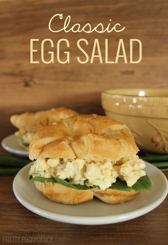 I love this classic egg salad recipe, definitely one of the best I've found! Frugal and delicious weeknight dinner idea!