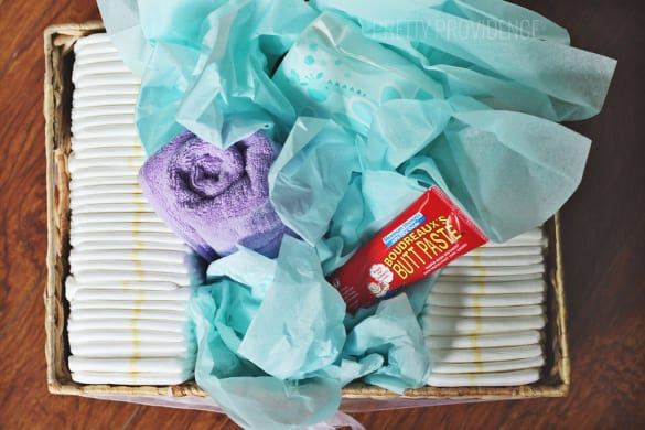 Diaper Basket Baby Shower Gift