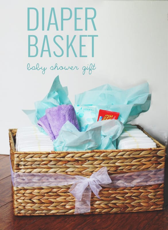 ft! Diapers, wipes, a towel + butt paste in a pretty basket.