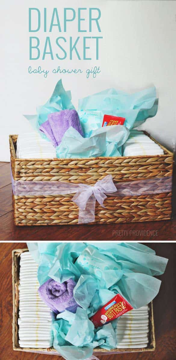Baby Gift Basket Diapers : Diaper basket baby shower gift