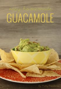 The BEST homemade guacamole! I seriously can't even eat store bought anymore! It's so simple, and SO good!