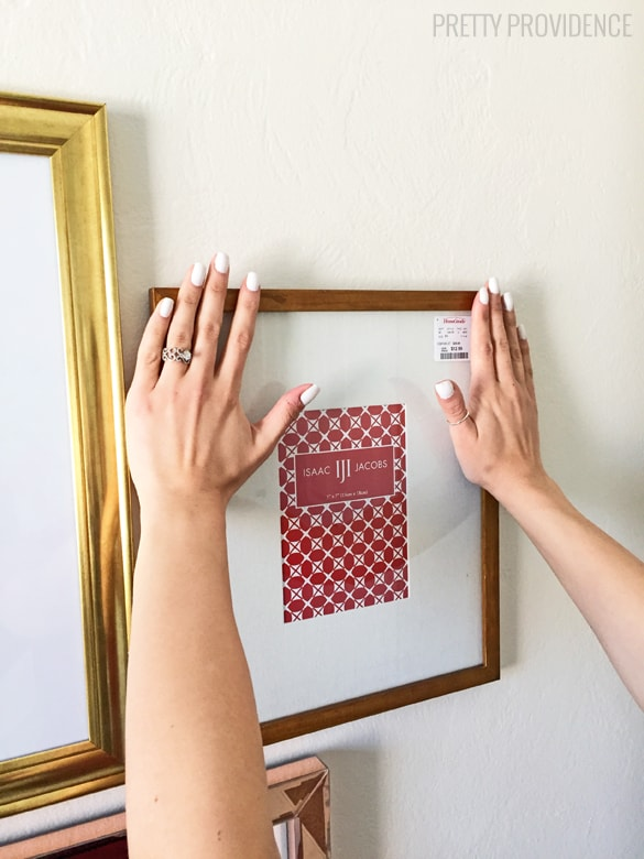 How to hang a perfect gallery wall without nails How to hang a heavy picture frame without nails