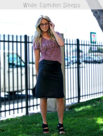 Super easy faux leather skirt tutorial