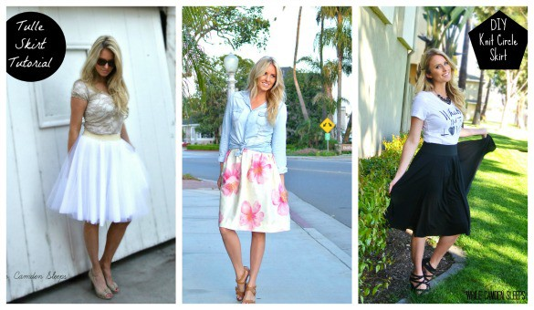 Easy DIY skirt tutorials!