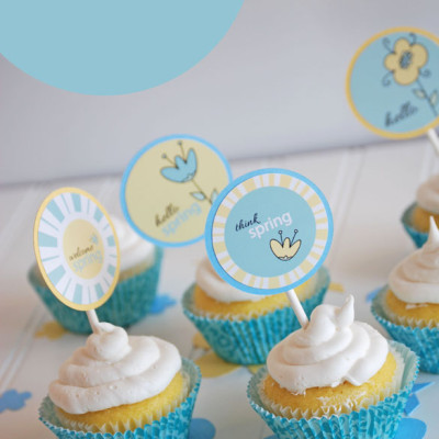 Spring Printable Cupcake Toppers