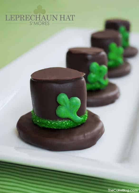 St. Patrick's Day Treats - S'mores Leprechaun Hats by The Cake Blog