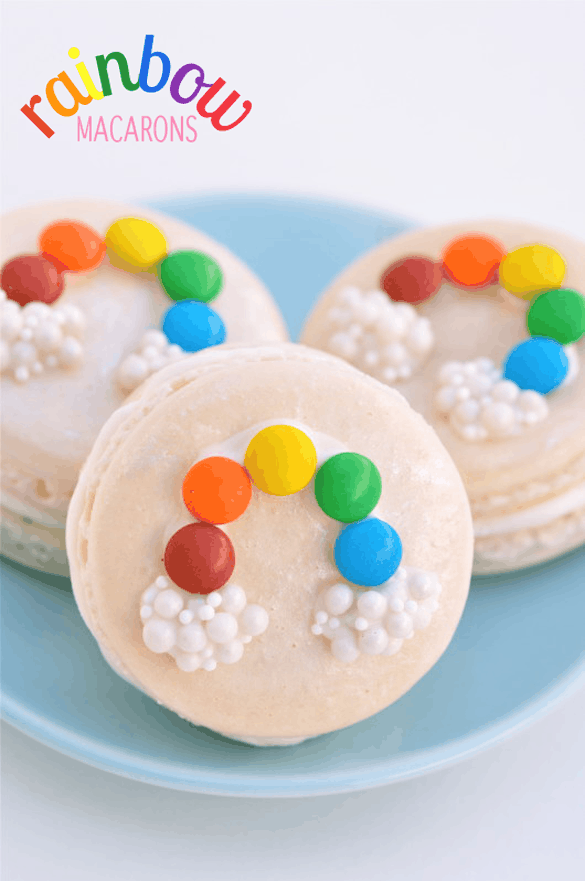 St. Patrick's Day Treats - Rainbow Macarons from Best Friends for Frosting