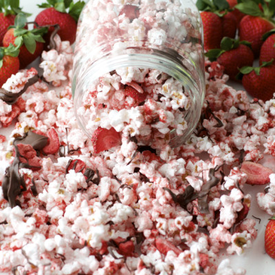 Chocolate Strawberry Covered Popcorn