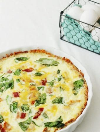 Easy Quiche with Hash Brown Crust