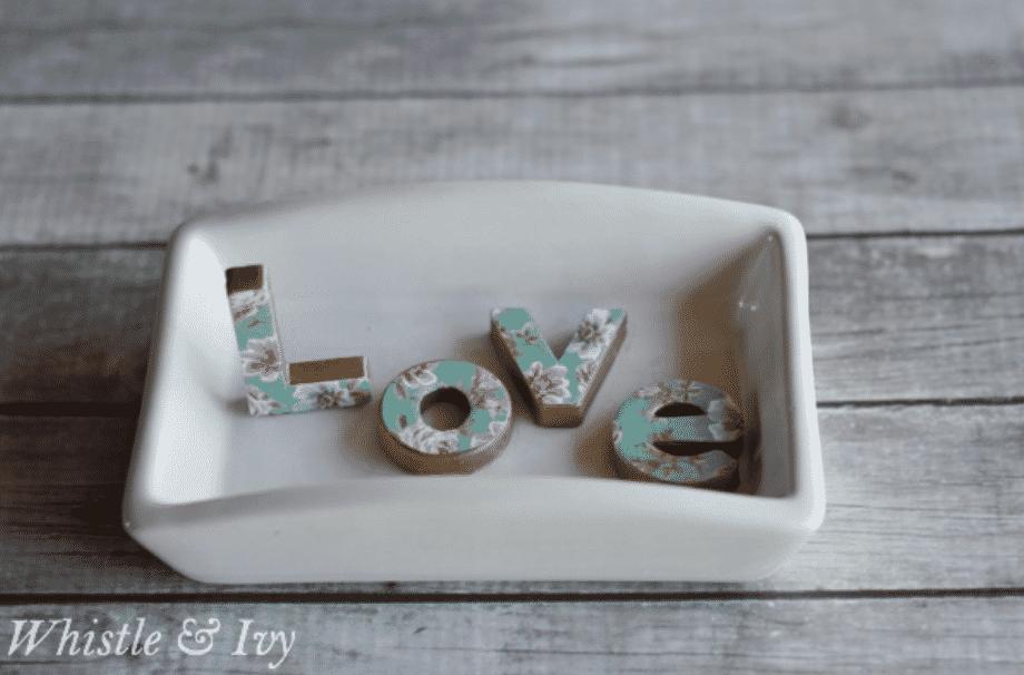 "DIY ""LOVE"" Trinket Dish"