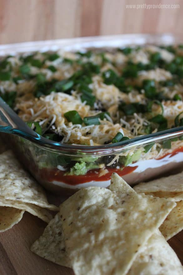Absolutely the world's best seven layer dip! You will be shocked at how easy this is to make, and how quickly it disappears!