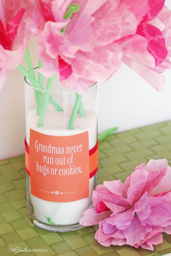 Cute Mother's Day Gift Idea and Printables {OneCreativeMommy.com on Pretty Providence) Bonus grandmother printables, too!