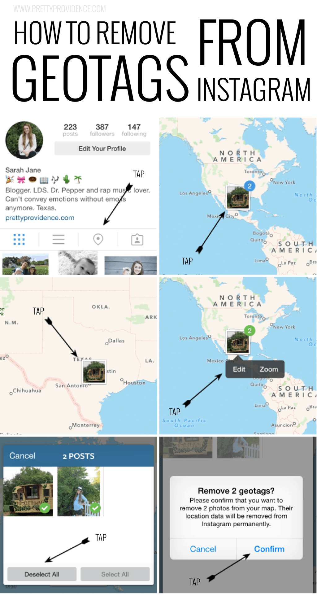 How to remove geotags from Instagram. You may not even know that your home address shows up there!