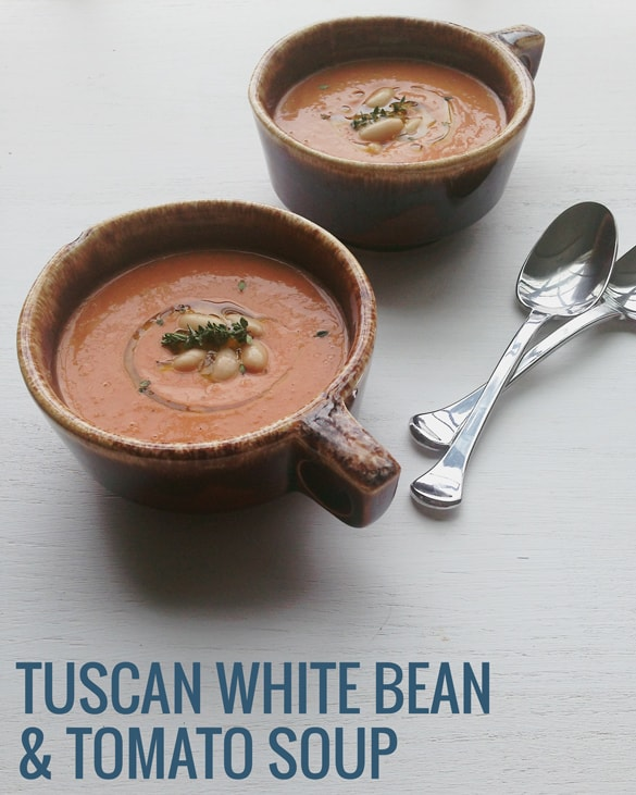 A hearty spring soup, Tuscan White Bean and Tomato Soup | Pretty Providence
