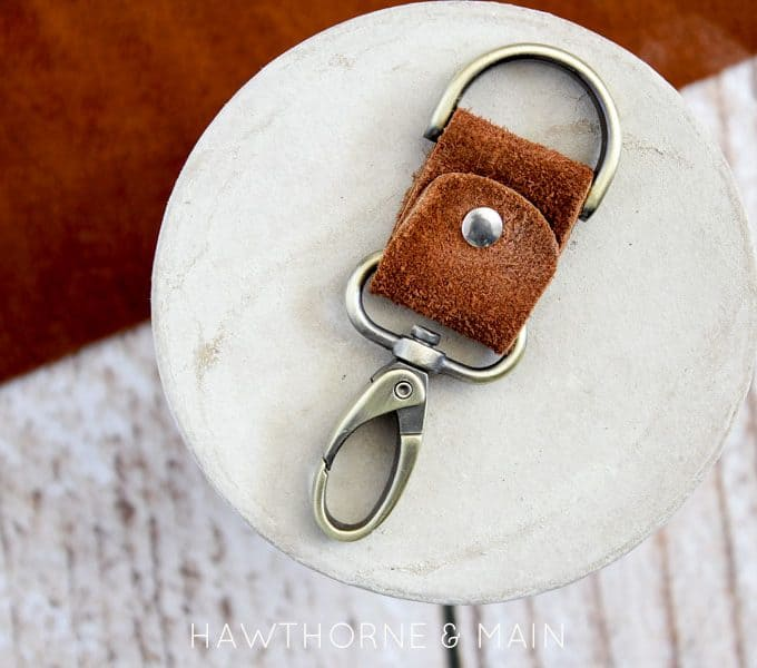 Simple Leather Keychain