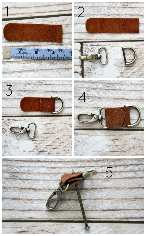 Leather Key Chain process