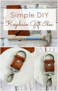 Leather Key Chain title