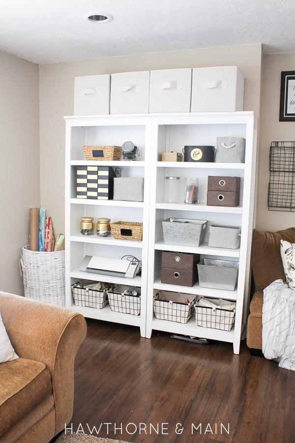 White Bookshelf 1
