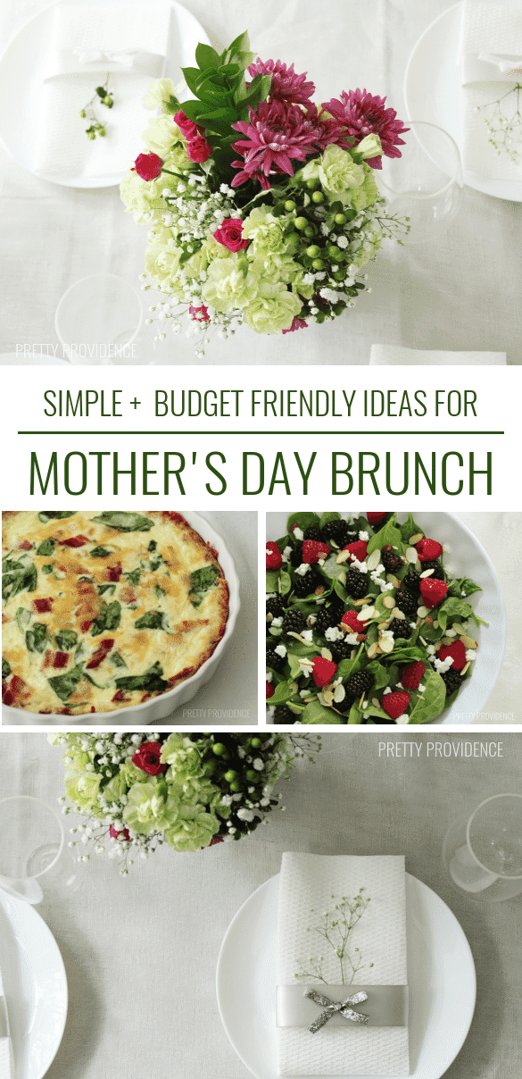 Moms love brunch! Give her a perfect Mother's Day brunch with these easy menu + table setting ideas.