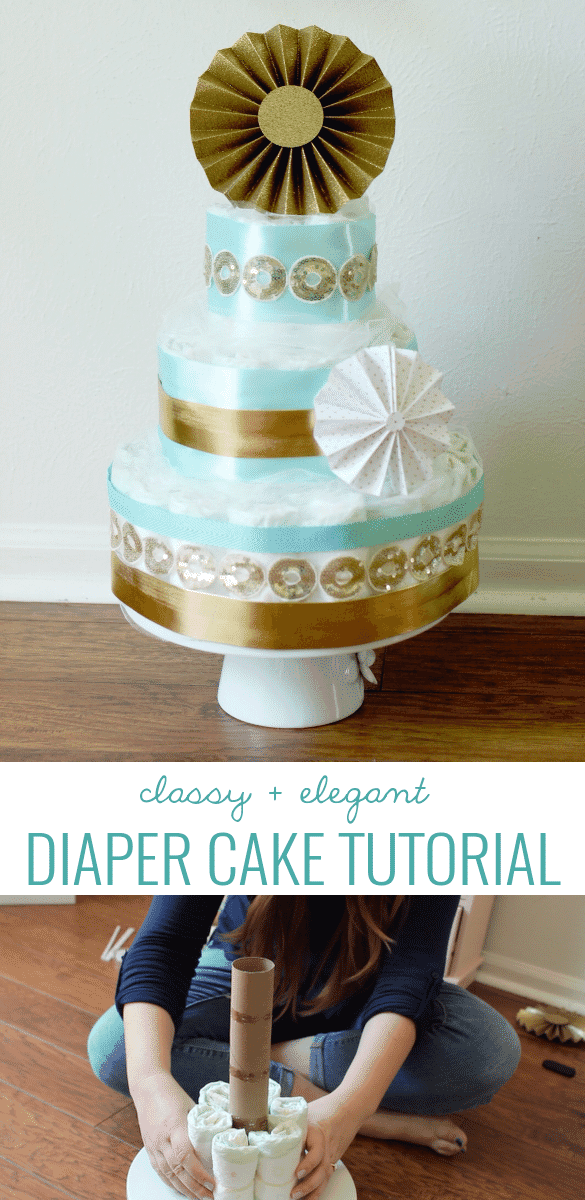 Video tutorial for making a classy & elegant diaper cake!