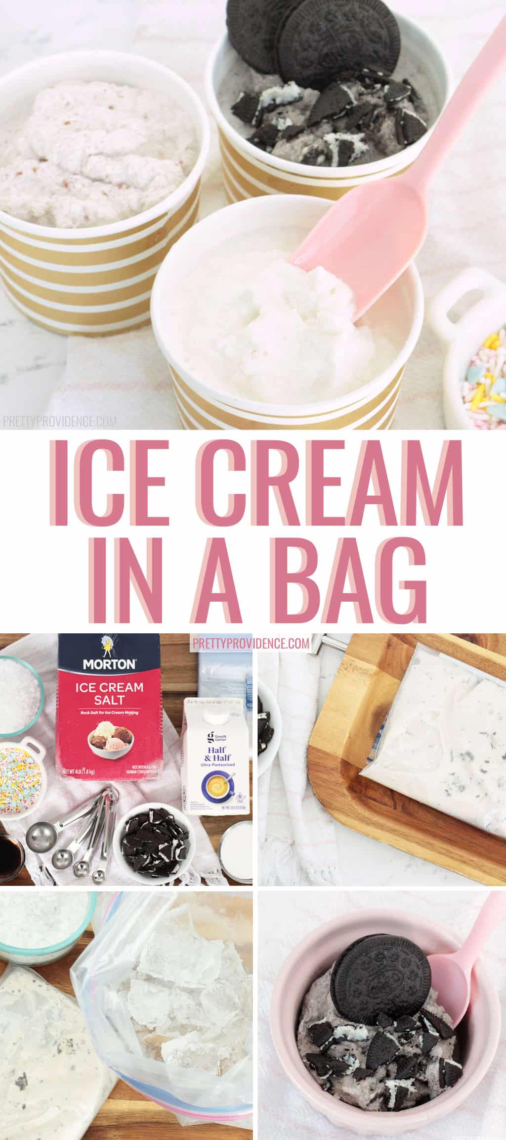 Fun and easy ice cream in a bag recipes and tutorial! Such a perfect summer family activity!