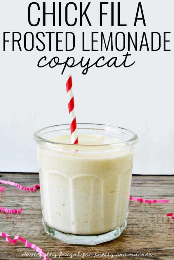 YUM! Have you ever had Chick-fil-A frosted lemonade? It's so GOOD and easy to make at home!