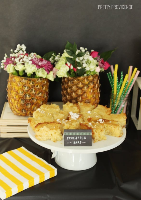 Pineapple Bars - Pineapple party ideas!