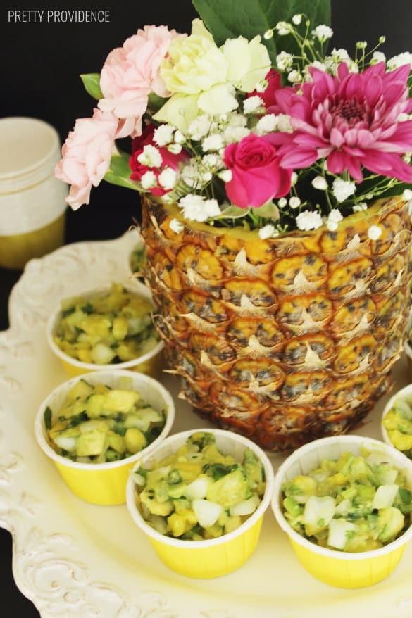 Pineapple salsa - pineapple party ideas!