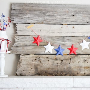 4th of july mini star garland square watermark