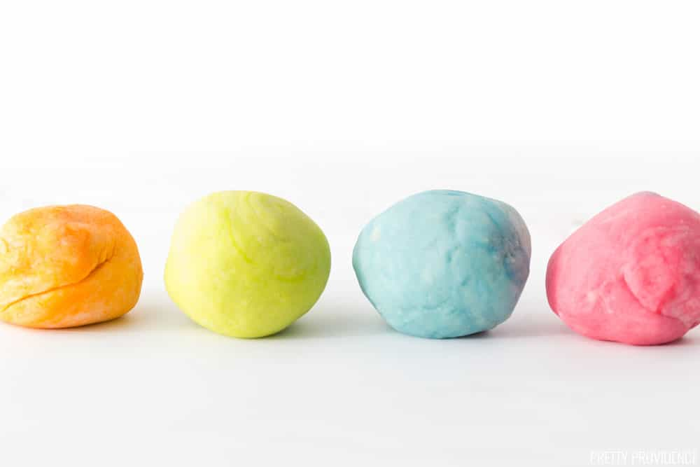 This easy homemade play dough recipe is so easy and you can make any colors you want!