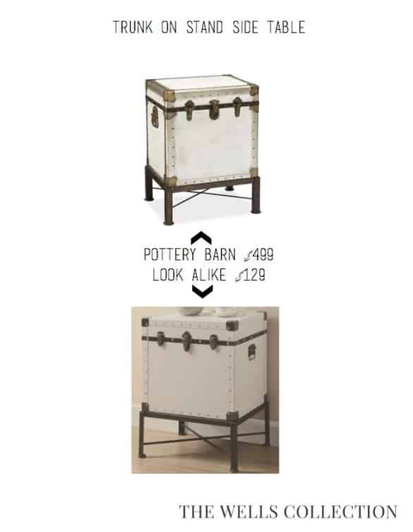 Coastal Pottery Barn For The Price Pretty Providence - Pottery barn trunk end table