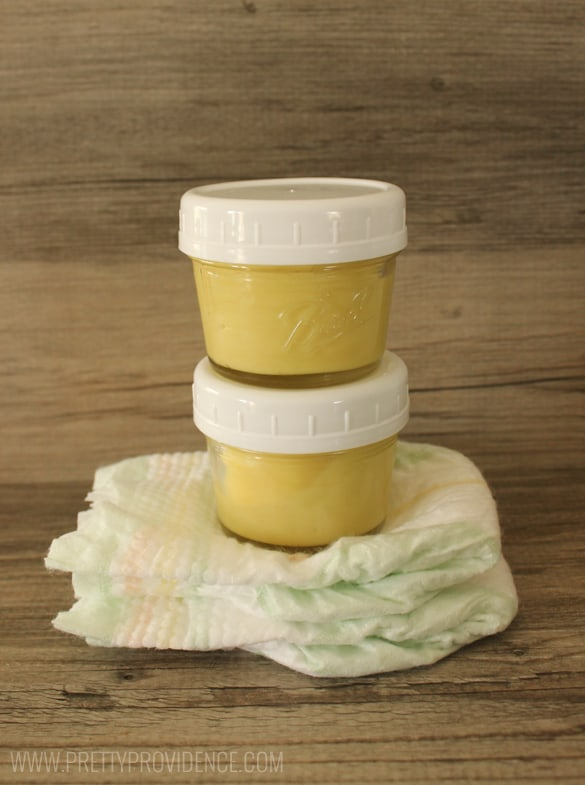 I am in love with this easy diy organic diaper cream! It is so easy to whip together and I know EXACTLY what I'm putting on my little one. It works great for creases behind ears, and other dry spots as well!