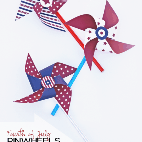 4th of July Pinwheel Craft with Free Printables