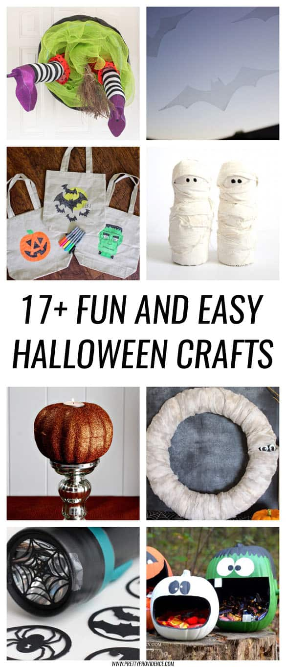 17+ Fun and easy Halloween crafts! Super cute ideas in here! I will definitely be making a few of these this year!