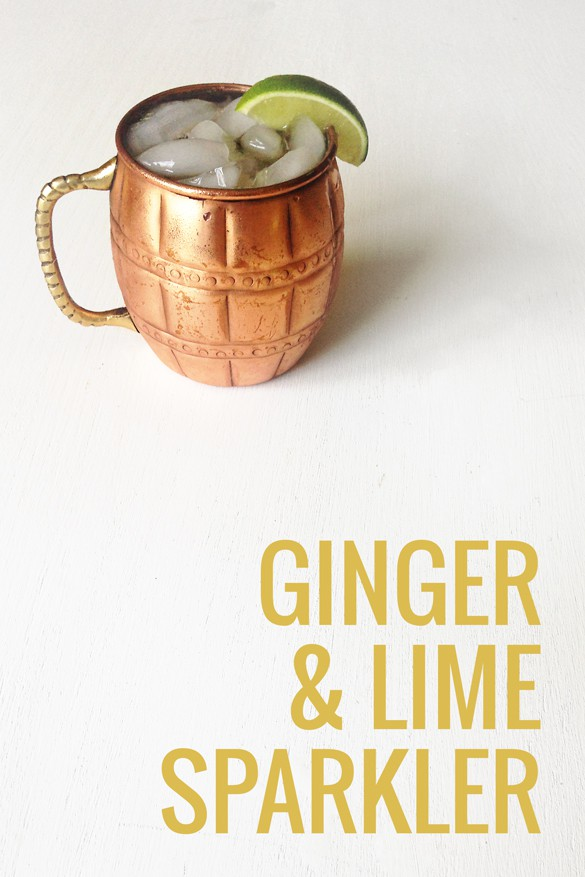 The Ginger & Lime Sparkler is a spicy yet refreshing summer beverage. | Pretty Providence
