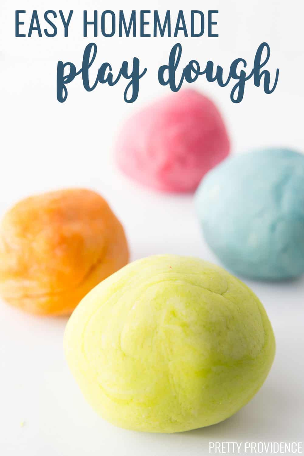 This easy play dough recipe is the best and it lasts a long time! So fun for kids!