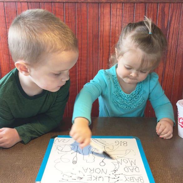 Great tips in here for eating out with little ones!