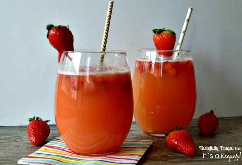 Strawberry Pineapple Spritzer www.tastefullyfrugal.org