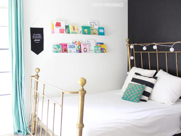 Black + white baby girl nursery on a budget!