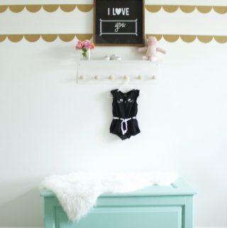 Black + white baby girl nursery on a budget!