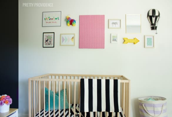 black-white-nursery-crib-gallery-wall