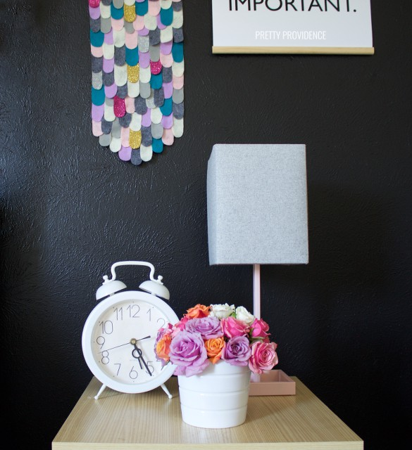 black-white-nursery-side-table