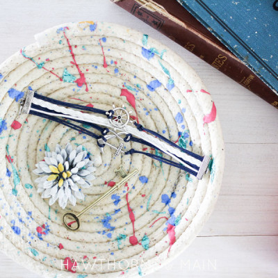 DIY Colorful Rope Bowl