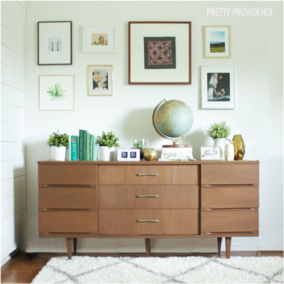 Mid Century Modern Credenza rescued from the curb!