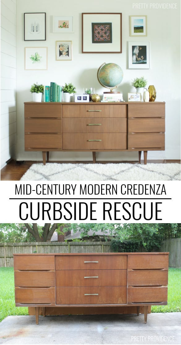 I can't believe they found this Mid Century Modern Credenza on the curb!