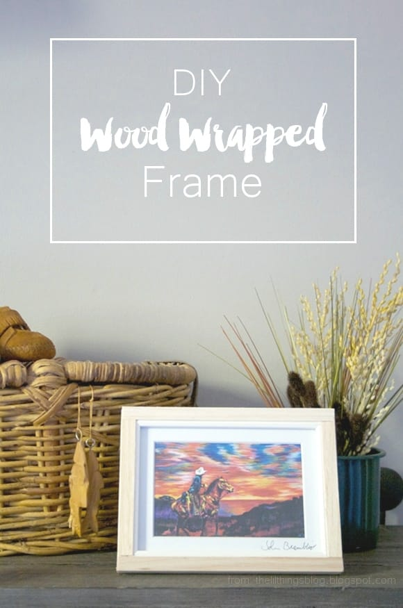 DIY Wood Wrapped Frame - Pretty Providence