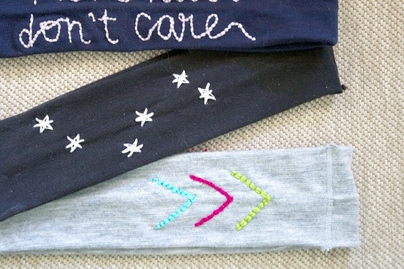 Easy embroidered headbands! Fun and easy beginners embroidery.