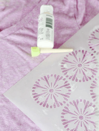 Make Over a Plain Tee with Stencils